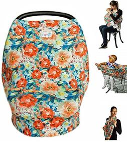 High Quality Stretchy Baby Car Seat Cover, Canopy, Nursing A