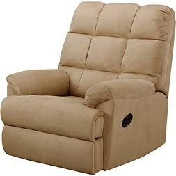 Sturdy Construction and Easy-Care Upholstery Microsuede Rock