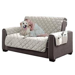Home Dynamix Suede Love Seat Protector | Spills, Stains, Rip
