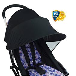 WZTO Sun Shade for Baby Strollers and Car Seats, Widen Sun&R