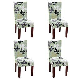 Yiwant Chair Cover Slipcover Short Dining Seat Protector Str