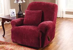 Sure Fit Stretch Royal Diamond Recliner Slipcover, Wine