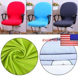 Swivel Computer Chair Seat Cover Stretch Spandex Office Armc