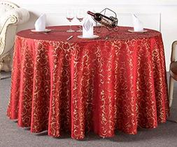 Uforme Tabletop Decor Woven Fabric Table Cloth Damask Patter