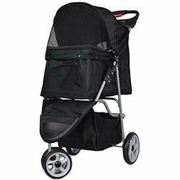 VIVO Three Wheel Pet Stroller, for Cat, Dog and More, Foldab