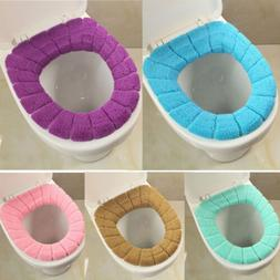 Toilet Seat Soft Cloth Washable Lid Full Cover Pad Mat Close