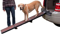 Pet Gear Tri-Fold Ramp 71 inch Pet Ramp supports 200LBS,Choc