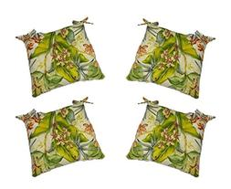 Set of 4 - In / Outdoor Tommy Bahama Pink Green Tropical Flo