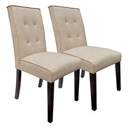 BestValue Go BestValue Go Tufted Fabric Dining Chair with So