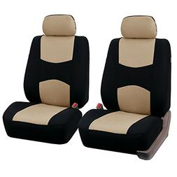 FH Group Universal Fit Flat Cloth Pair Bucket Seat Cover,