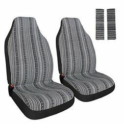 Copap Universal Stripe Colorful 4pc Front Seat Covers Baja B