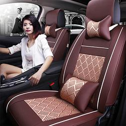 11Pcs Universal Full Surrounded Car Front&Rear Seat Covers A