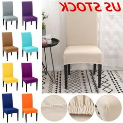 US Spandex Stretch Dining Chair Cover Slipcovers Removable S