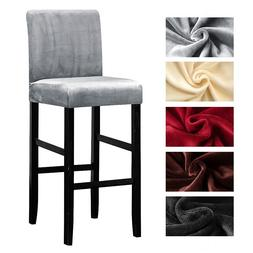 Velvet Plush <font><b>Bar</b></font> Chair <font><b>Cover</b