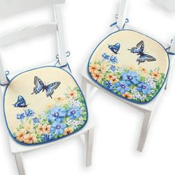 Collections Etc Vintage Spring Butterfly and Flowers Chair P