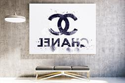 Fashion wall pop art print - Illustration - Chanel Surfing B