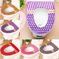Washable Toilet Seat Lid Top Cover Pad Mat Bathroom Warmer C