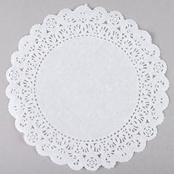 Black Cat Avenue White Lace Normandy Grease Proof Doilies, 8