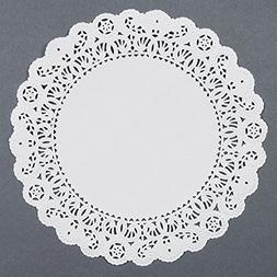 Black Cat Avenue White Paper Lace Doilies, 9 Inches, 50-Pack