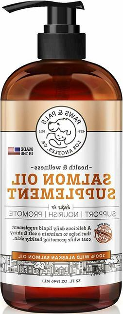 Pure Wild Alaskan Salmon Oil for Dog Pets Omega 3 Natural  F