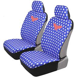 Wonder Woman Car Seat Covers - Red White & Blue w/Stars - Mo