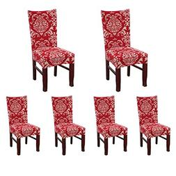 SoulFeel Set of 6 x Stretchable Dining Chair Covers, Spandex