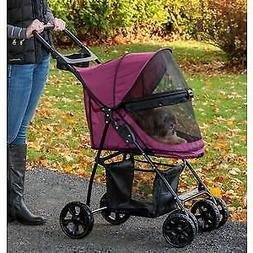 Pet Gear No-Zip Happy Trails Lite Pet Stroller for Cats/Dogs